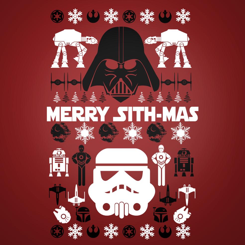 star wars merry sithmas ugly christmas sweater tee shirt